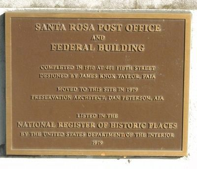 Santa Rosa Post Office and Federal Building Marker image. Click for full size.