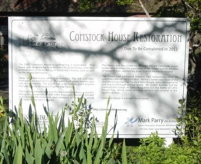 Comstock House Restoration Marker image. Click for full size.