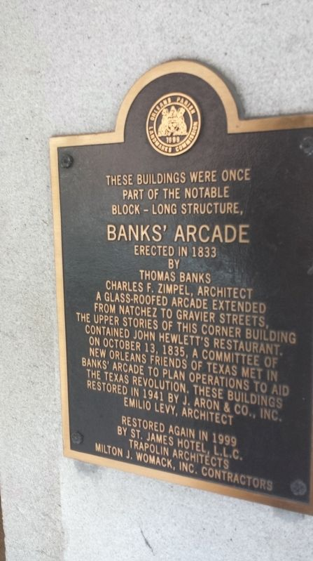 Bank's Arcade Marker image. Click for full size.