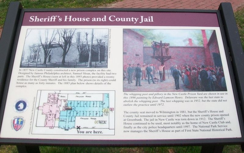 Sheriff's House and County Jail Marker image. Click for full size.