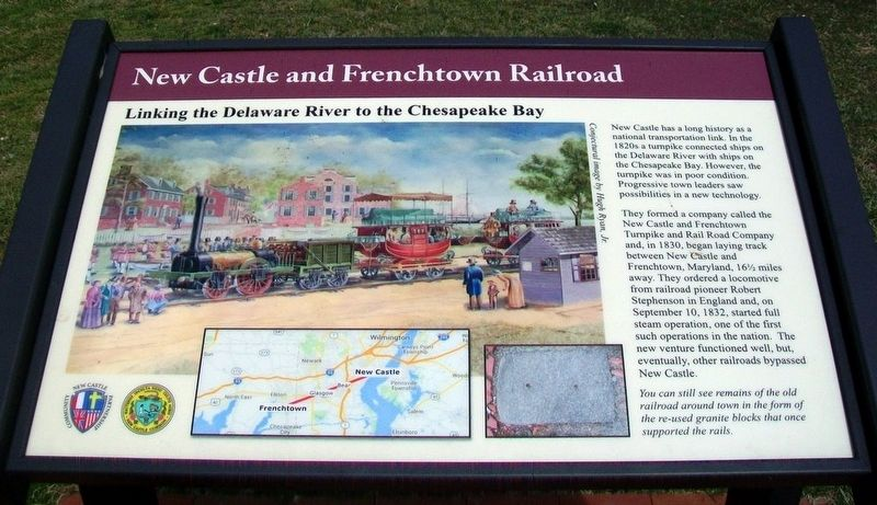 New Castle and Frenchtown Railroad Marker image. Click for full size.