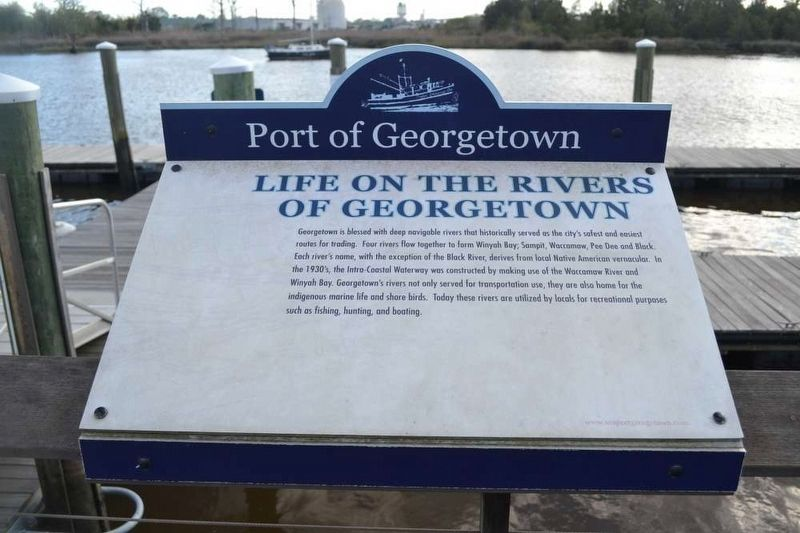 Life on the Rivers of Georgetown Marker image. Click for full size.