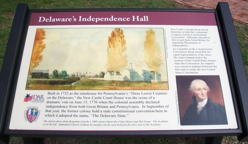 Delaware's Independence Hall Marker image. Click for full size.