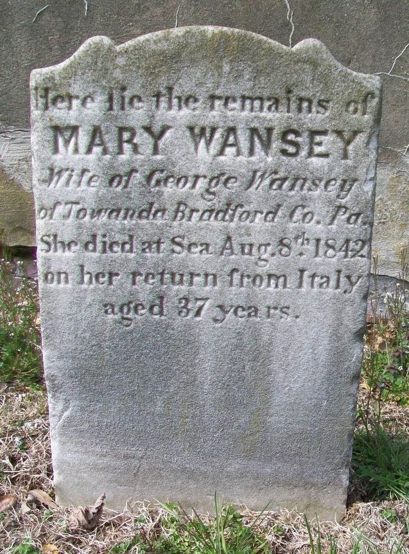 Mary Wansey Marker image. Click for full size.
