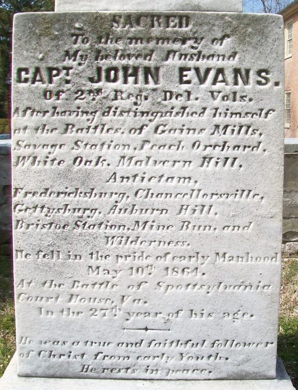 Captain John Evans Marker image. Click for full size.