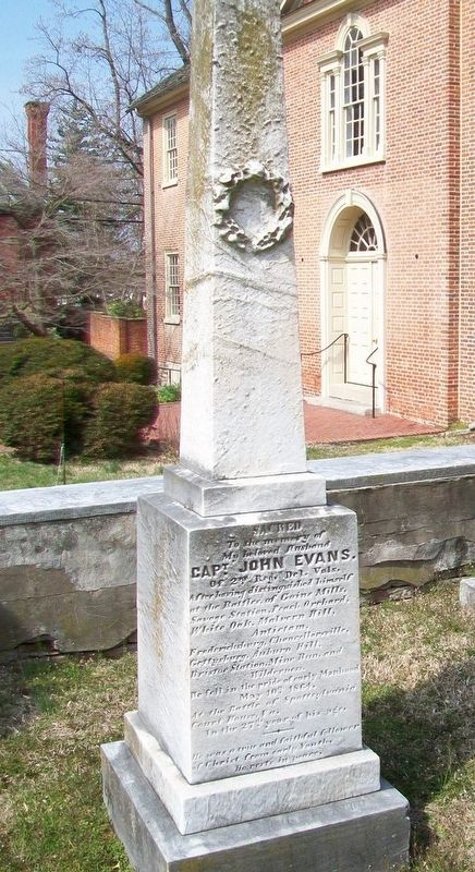 Captain John Evans Monument image. Click for full size.