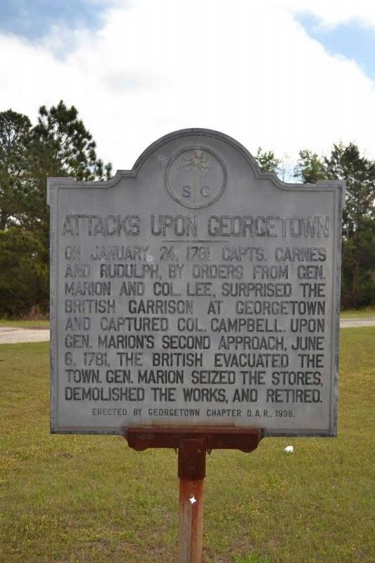 Attacks Upon Georgetown Marker image. Click for full size.