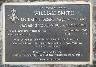 In Recognition of William Smith Marker image. Click for full size.