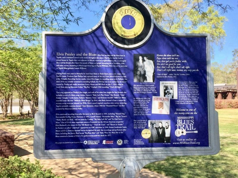 Elvis Presley and the Blues Marker (Rear) image. Click for full size.