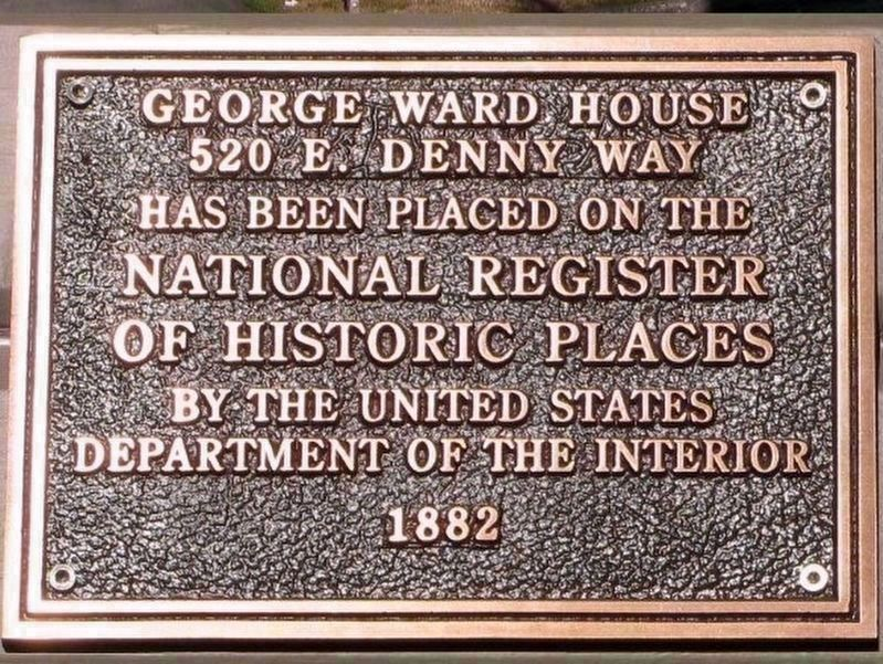 George Ward House NRHP Plaque image. Click for full size.