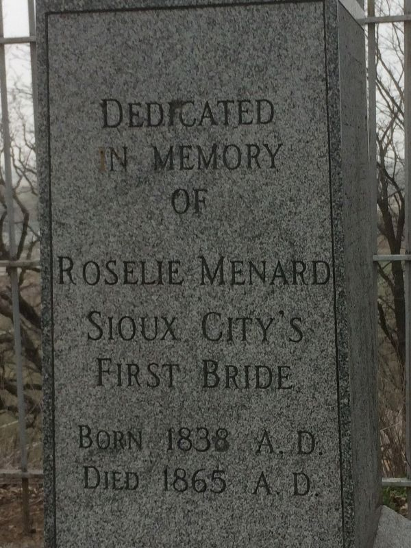 First Bride's Grave Marker image. Click for full size.