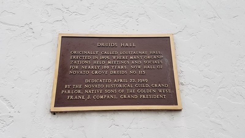 Druids Hall Marker image. Click for full size.