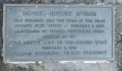 Novato History Museum Marker image. Click for full size.