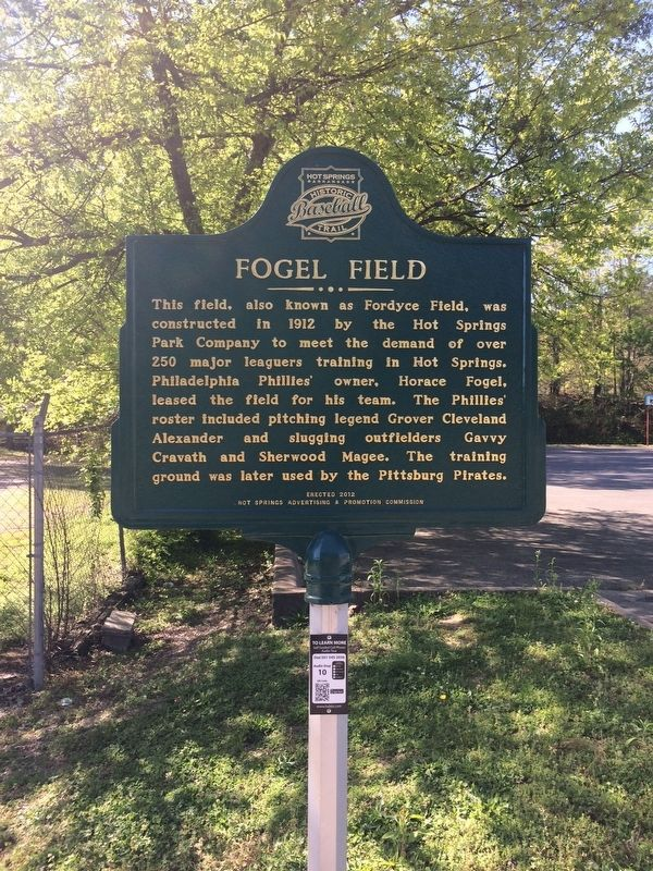 Fogel Field Marker image. Click for full size.