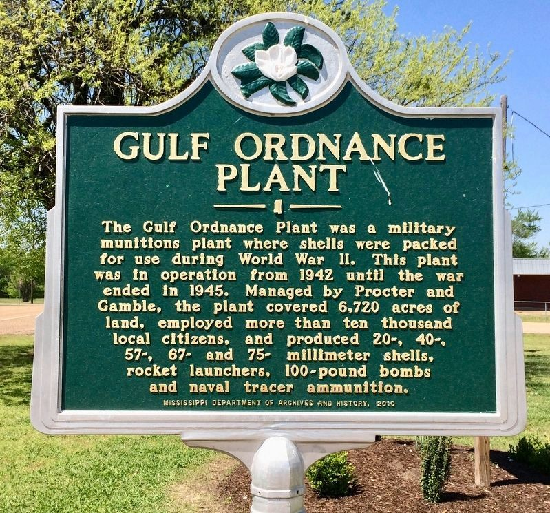 Gulf Ordnance Plant Marker image. Click for full size.