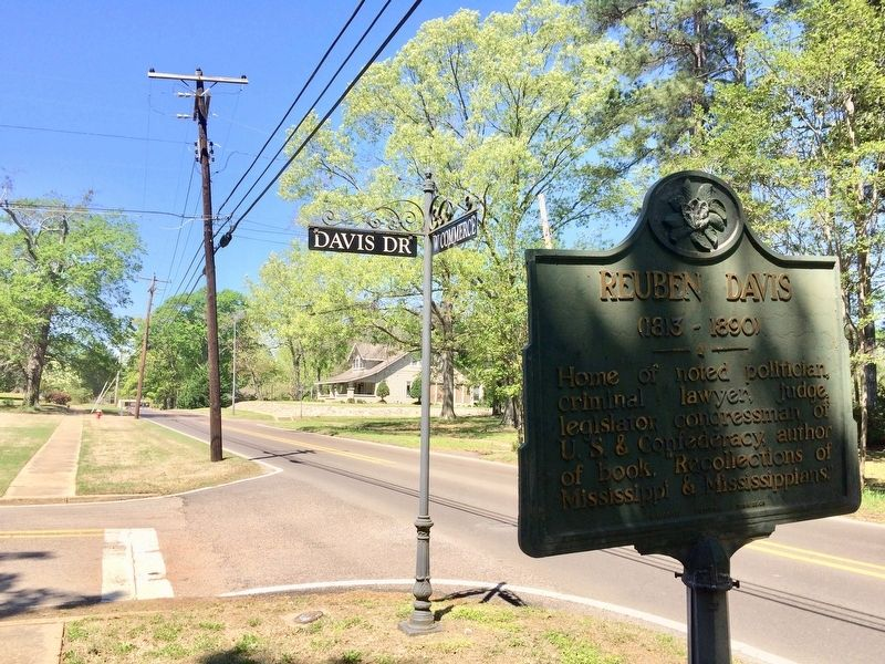 View of marker at intersection looking west on Commerce Street. image. Click for full size.
