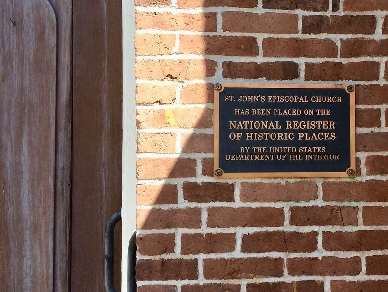 NRHP plaque for the church. image. Click for full size.