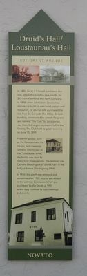 Druid's Hall/ Loustaunau's Hall Marker image. Click for full size.