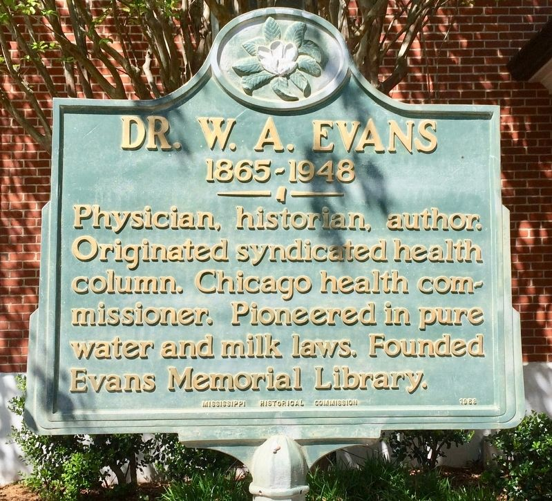 Dr. W. A. Evans Marker image. Click for full size.