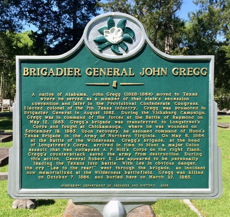 Brigadier General John Gregg Marker image. Click for full size.