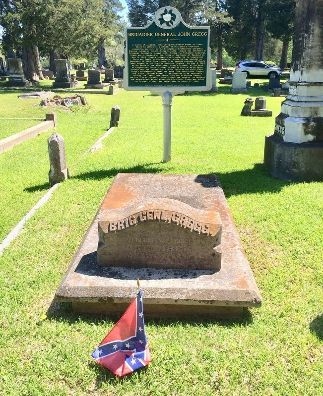 Brigadier General John Gregg grave and the marker. image. Click for full size.