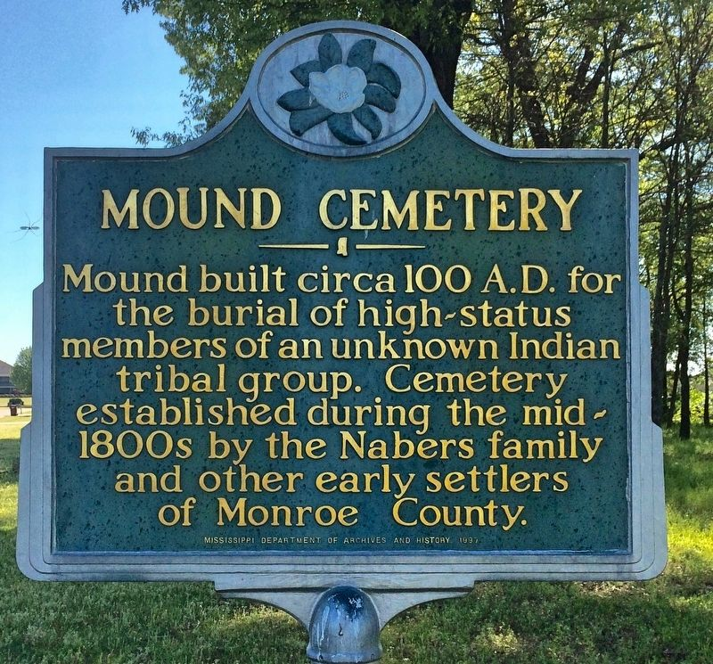 Mound Cemetery Marker image. Click for full size.