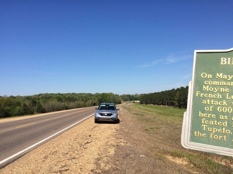 Looking west on U.S. Highway 278 towards Okolona. image. Click for full size.