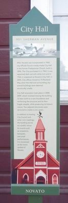 (Novato) City Hall Marker image. Click for full size.