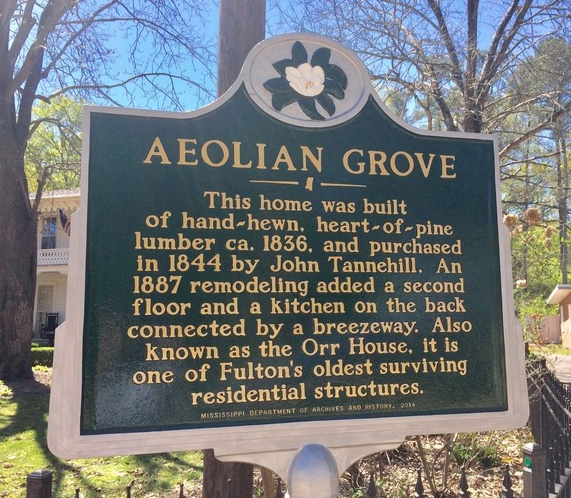 Aeolian Grove Marker image. Click for full size.