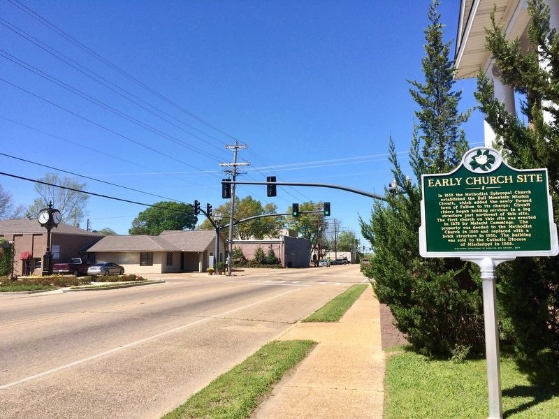 Area view of marker looking west on Main Street. image. Click for full size.