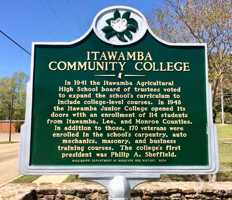 Itawamba Community College Marker image. Click for full size.