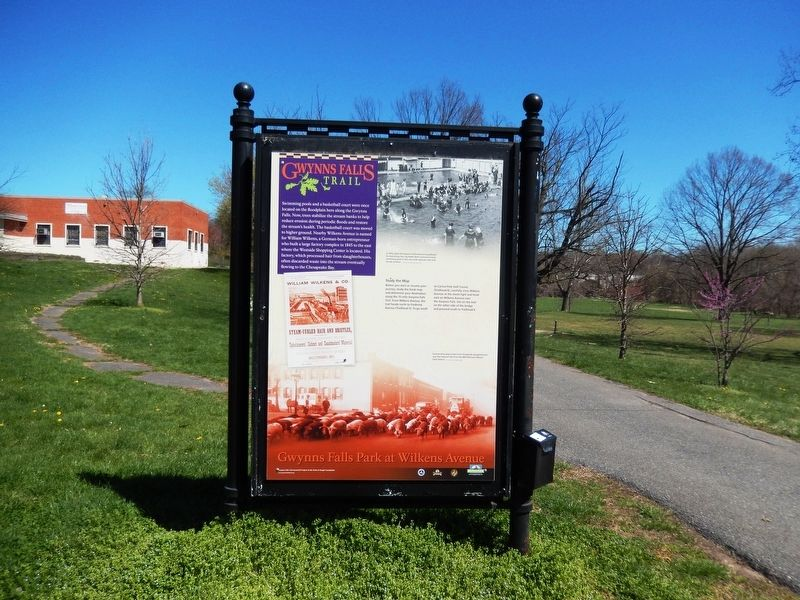 Gwynns Falls Park at Wilkens Avenue Marker image. Click for full size.
