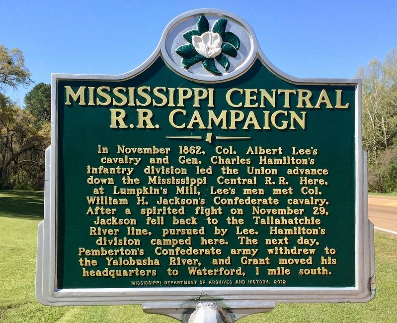 Mississipi Central R.R. Campaign Marker image. Click for full size.