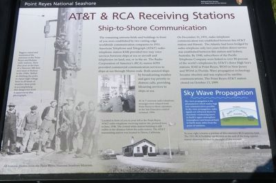 AT&T & RCA Receiving Stations Marker image. Click for full size.
