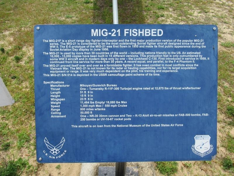 MIG-21 Fishbed Marker image. Click for full size.