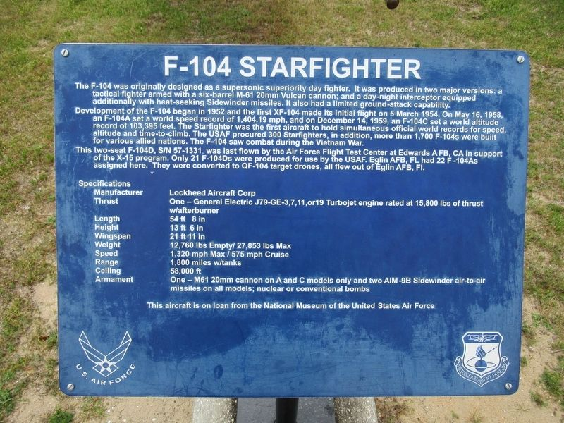 F-104 Starfighter Marker image. Click for full size.