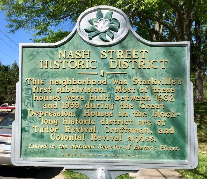 Nash Street Historic District Marker image. Click for full size.