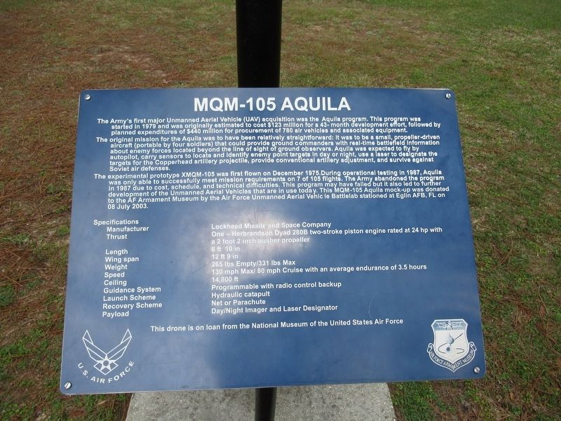 MQM-105 Aquila Marker image. Click for full size.