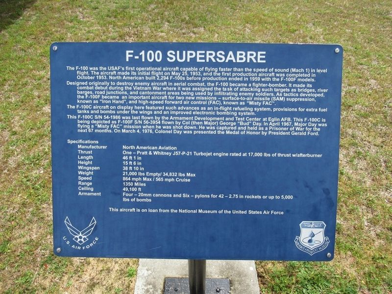 F-100 Supersabre Marker image. Click for full size.