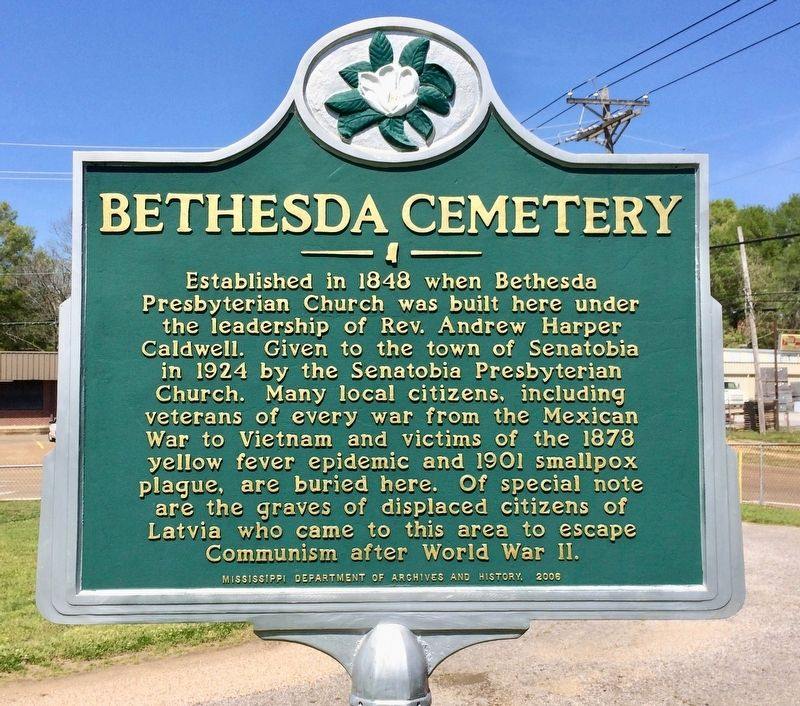 Bethesda Cemetery Marker image. Click for full size.