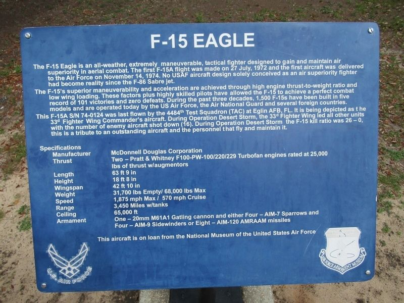F-15 Eagle Marker image. Click for full size.