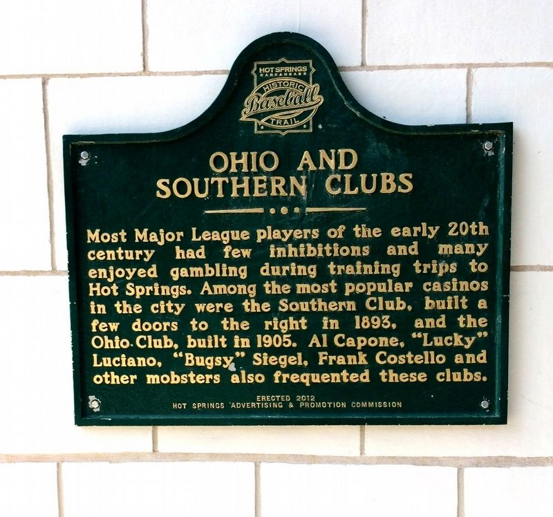 Ohio and Southern Clubs Marker image. Click for full size.