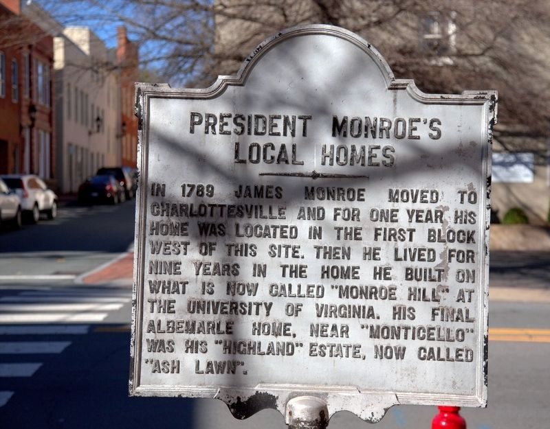 President Monroe's Local Homes Marker image. Click for full size.
