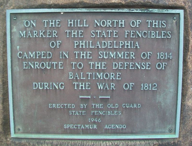 State Fencibles of Philadelphia Campsite Marker image. Click for full size.