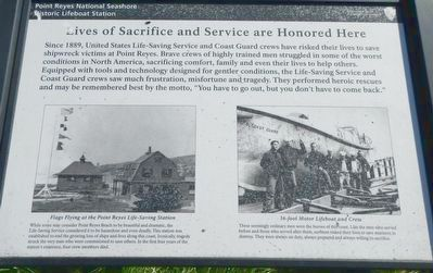 Lives of Sacrifice and Service are Honored Here Marker image. Click for full size.