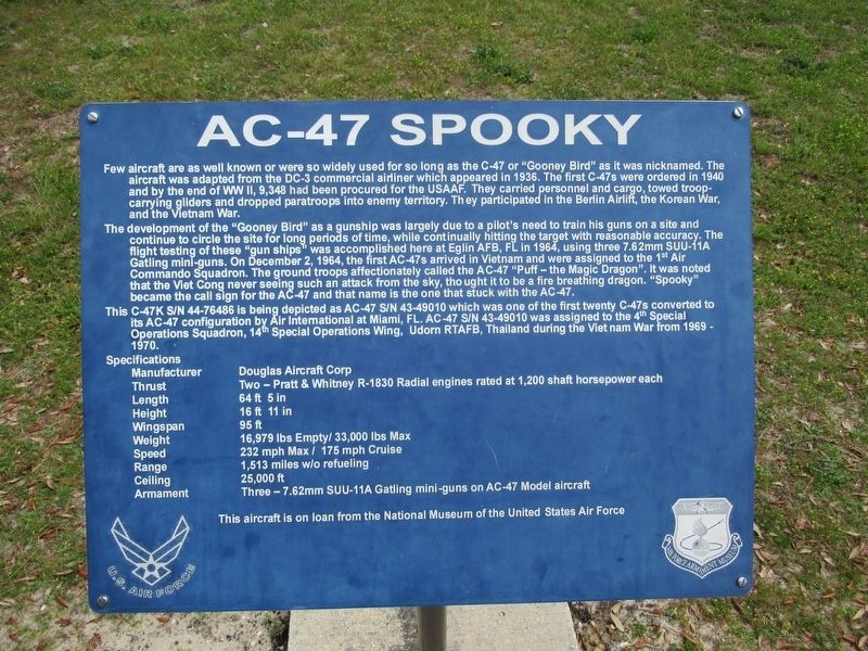 AC-47 Spooky Marker image. Click for full size.