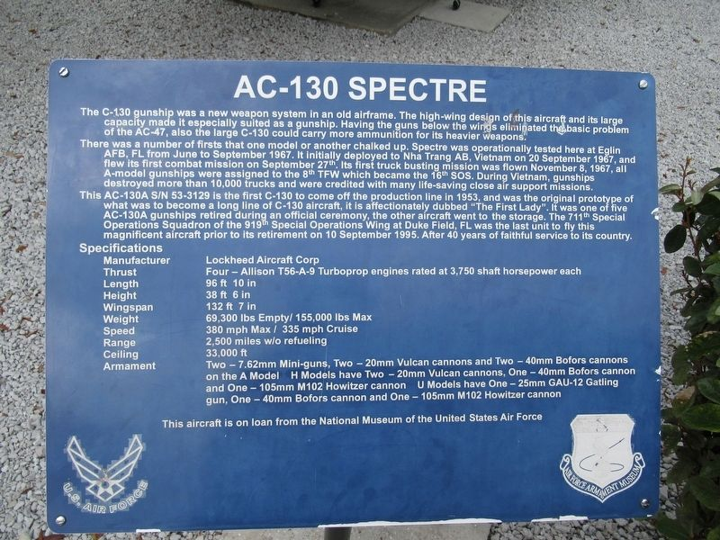 AC-130 Spectre Marker image. Click for full size.