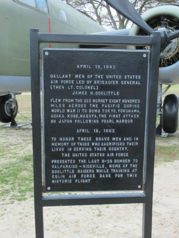 Doolittle Raiders Marker image. Click for full size.