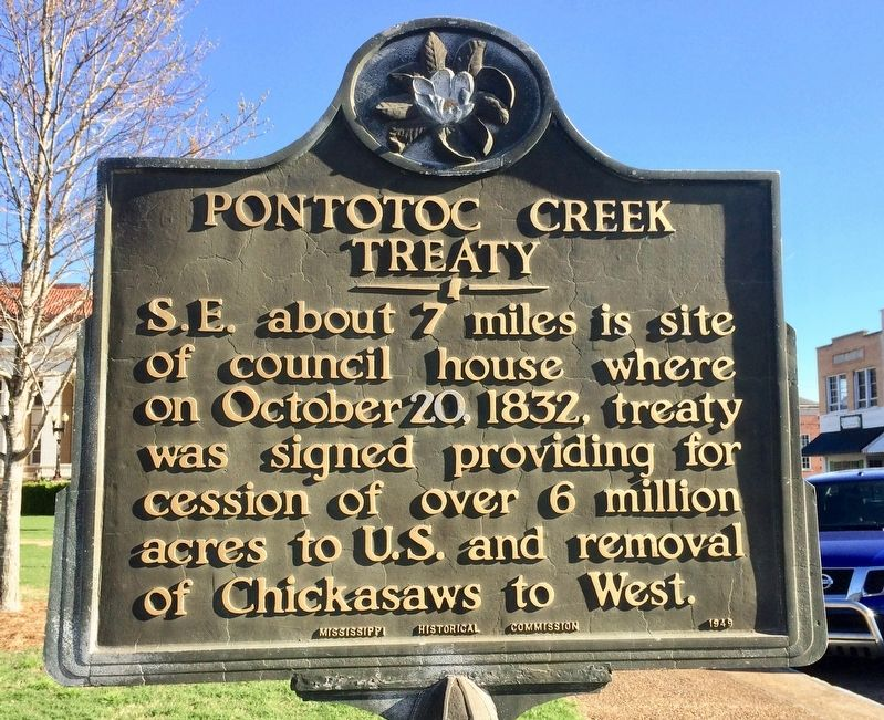 Pontotoc Creek Treaty Marker image. Click for full size.