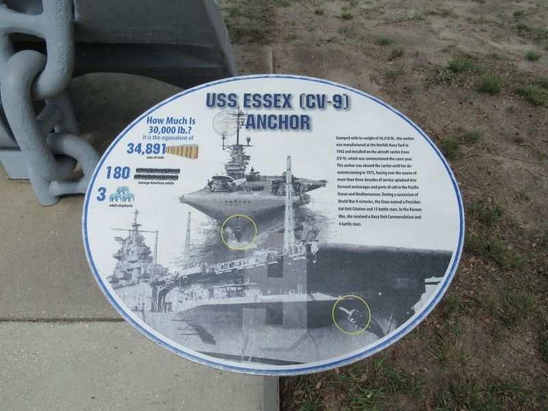 USS Essex (CV-9) Anchor Marker image. Click for full size.